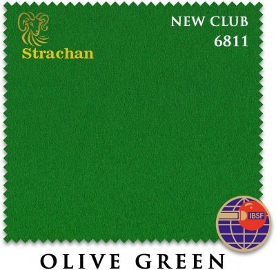Сукно Strachan Snooker 6811 New Club 196см Olive Green